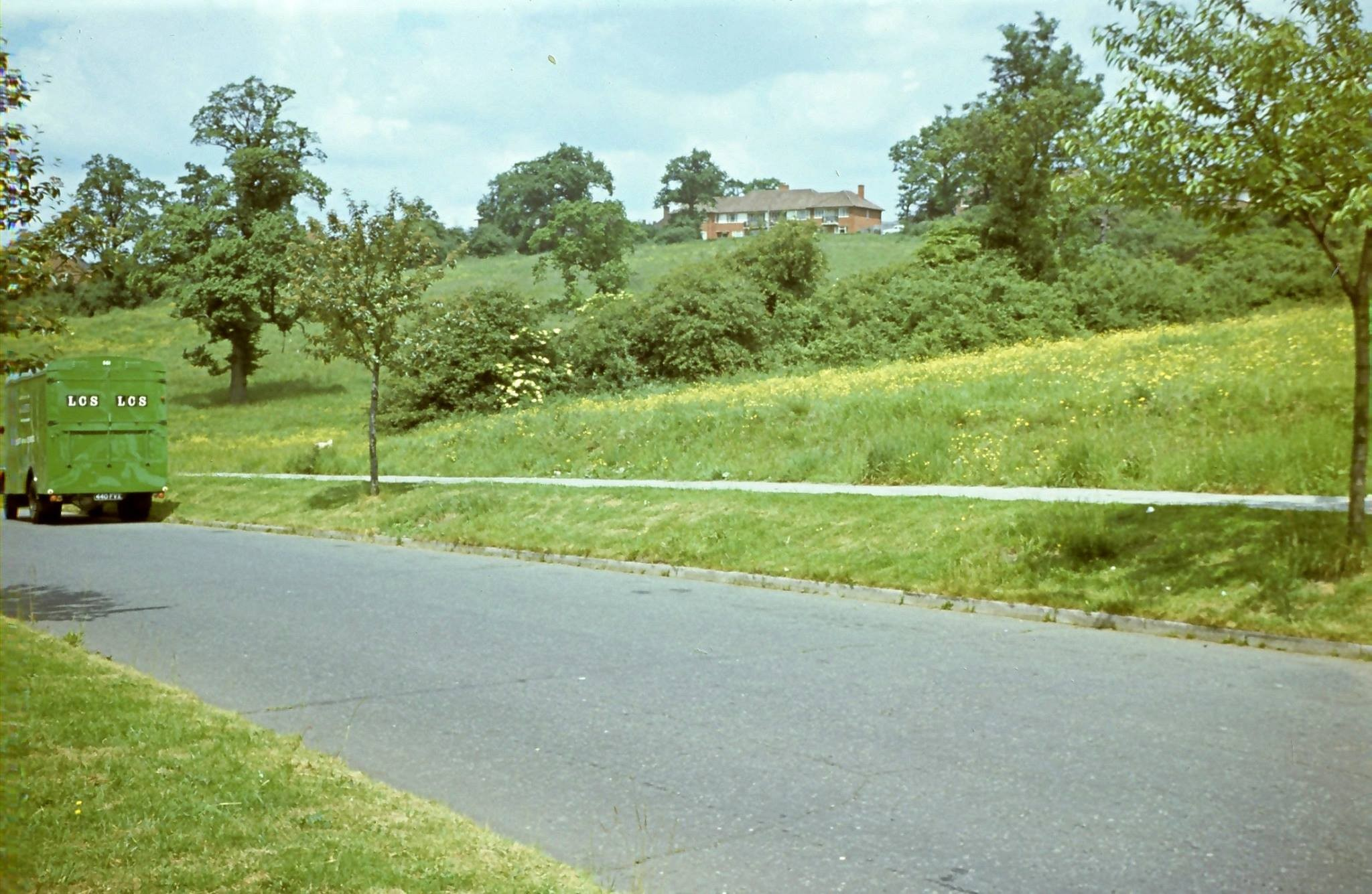 "The ""top end"" of Aycliffe Road when the hilly ground there was still largely undeveveloped."