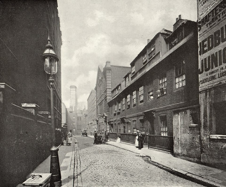Little Wild street in the Drury Lane rookery (c!902). It was photographed just before its demolition to make way for the Kingsway and Aldwych development.